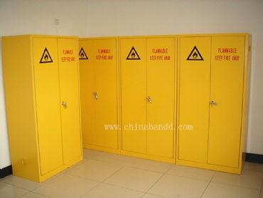 Full steel flammable gas cylinder storage cabinet